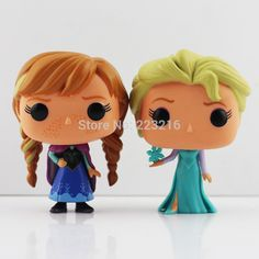 "2015 High quality 4""10cm Princess Elsa doll toy Funko POP Elsa Anna PVC action figure Doll With Box Free Shipping"