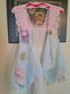 Scrapbooking Vest Shabby Chic Art to Wear Style by NoelleVandiver, $42.50