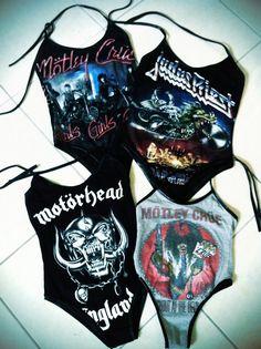 Motley Crue, Judas Priest, Motorhead bathing suit leatorad things