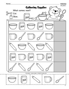 Worksheet for Kindergarten Patterns - Pattern worksheets for preschool and kindergarten. These free worksheets will help your kids learn to recognize and complete patterns, and will also give . Pattern Worksheets For Kindergarten, Patterning Kindergarten, Tracing Worksheets, Preschool Worksheets, Kindergarten Math, Preschool Activities, Free Worksheets, Preschool Curriculum, Free Preschool