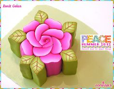 Pink Rose Millefiori Cane by Ronit golan, via Flickr
