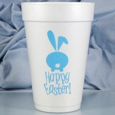 Printed & Ready to Ship 16 oz. Foam Easter Cup HAPPY EASTER
