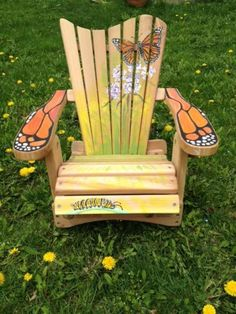 Attirant Hand Painted Adirondack Chairs For Charity Auctions   Google Search
