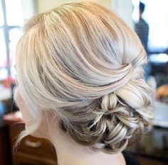Trends Wedding Hairstyles : classic updo wedding hairstyles for long hairs Wedding Hairstyles For Long Hair, Fancy Hairstyles, Wedding Hair And Makeup, Bridal Hair, Hair Makeup, Hairstyles 2018, Hairstyle Ideas, Classic Updo, Elegant Wedding Hair