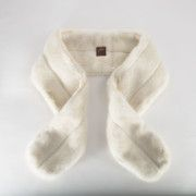 The Elizabeth Taylor- Ivory Faux Fur Skinny Mink Stole