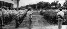 Guardia Civil en Guinea Ecuatorial. Último arriado de la bandera el 4 de abril de 1969.