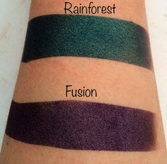 Rainforest and Fusion Indie Makeup, Iridescent, Purple, Pink, Swatch, That Look, Delicate, Color, Woman
