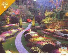 Onde está o teletransporte quando mais precisamos dele? Os Jardins de Butchart ficam no Canadá recebem centenas de milhares de visitantes por ano e encantam pela beleza das flores e espécies vegetais ali existentes. ♥ Você já conhecia?