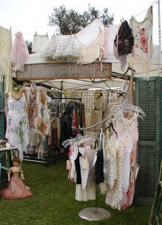Dragonfly Dreams / Photo's of Our June TVM 2012 Show Early Friday Morning Before We Opened  Great curved clothing rack at the front of this display.  #craftdisplay