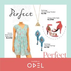 Perfect, Perfect ! #Odel #OdelStyle #Fashion #Trends #Backstage #Shoes #Dress #StatementEarrings