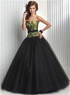 Ball Gown Sleeveless Applique V-neck Floor-Length Tulle Dresses ...
