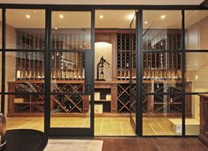 Transitional Custom Wine Cellar by Papro Consulting 7d