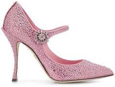 Dolce & Gabbana Lori Mary Jane pumps Sold Out at Farfetch High Heels Stilettos, Stiletto Heels, Pink Fashion, Womens Fashion, Valentino Dress, Satin Pumps, Pink Bling, Mary Jane Pumps, Glass Slipper