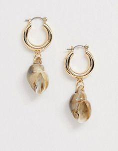 Dangle Gold Earring White Shell Earring Women Girl Wife Gift For Her Party Earring Square Delicate Earring Asian Trending Earring
