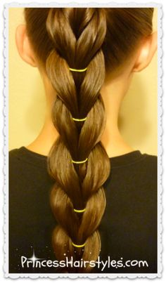 reverse pull through ponytail braid, stretched