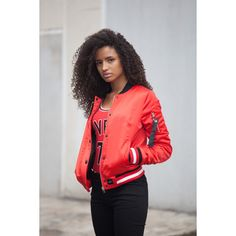 Produkty :: ŽENY :: Oblečenie :: Bundy a kabáty :: Bundy :: Bombery :: Bombera Sixth June PVRIS 75 Red Veľkosť: L - Produkty Red Leather, Leather Jacket, Athletic, Street Style, Outfit, Jackets, Fashion, Studded Leather Jacket, Outfits