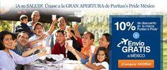 10% DE DESCUENTO Y...  ¡¡¡ENVÍO GRATIS ESPECIAL A MEXICO!!! http://www.puritanspride.com.mx/?scid=30314