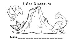 Preschool Wonders: Another Dinosaur Freebie!