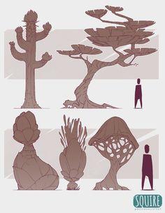 SQUIRE: Desert Biome Flora, Becca Hallstedt on ArtStation at https://www.artstation.com/artwork/b8nro
