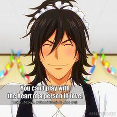 You can't play with the heart of a person in love! (Takeru Hibiya, Ookami Shoujo to Kuro Ouji)  #AnimeQuotes #ookamishojo #TakeruHibiya