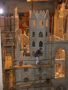 Inside the Prater museum: miniature of the building of the Stephansdom