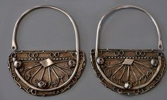 Very large silver Tunisian earrings (Singkiang inventory for sale )