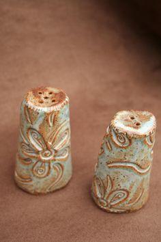 Ceramic Pottery Salt & Pepper Shakers by CaliforniaSoulshine