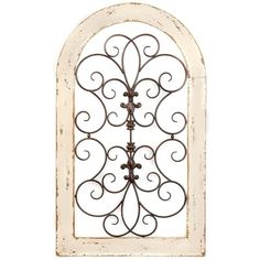 Cosette Distressed Cream Wall Plaque ($70) ❤ liked on Polyvore featuring home, home decor, wall art, scroll wall art, fleur de lis wall plaque, fleur de lis wall art, bronze plaques and bronze wall art