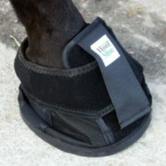 """Natural Hoof Shoe - Size 2 (5 1/4-5 1/2"""") by Intrepid International. $49.95. The Natural Hoof Shoe can be used in place of iron horse shoes-- will not change the gait. Simple to fit, carry one in the event a shoe is thrown. Gives great traction and reduces concussion. Great for trailering or riding on smooth or slippery surfaces. Great for use on stallions during service. Streams are no problem as this shoe has side vents. For the best fit measure diagonally from the corner ..."""