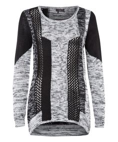 This Dex Black & Gray Mixed Yarn Sweater by Dex is perfect! #zulilyfinds