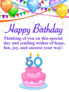 55 Best 50th Birthday Cards Images