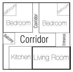 """3 rooms/ 2 bathroom house plan #home #house"" by uveyskartalx on Polyvore featuring interior, interiors, interior design, ev, home decor, interior decorating ve bathroom"