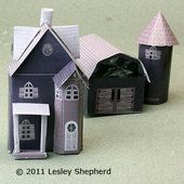 Printable farmhouse barn and silo