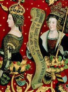 1489-92 Hans Part and others - Babenberg Family Tree (Left panel of triptych)