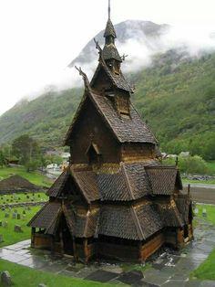 Iglesia Medieval en Noruega
