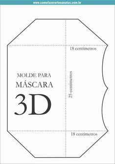 Máscara 3D de tecido passo a passo com molde Sewing Hacks, Sewing Tutorials, Sewing Crafts, Easy Face Masks, Diy Face Mask, Mouth Mask Design, Mascara 3d, Mask Template, 3d Face