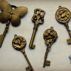 Key pendants made and coated with metal paints.  Next the colour!