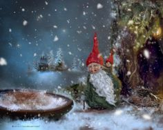 The Tomte, or the Nisse -which are different names of the same Scandinavian  Folk-Creature- are sort of a mix between dwarves, nymphs, and trolls.