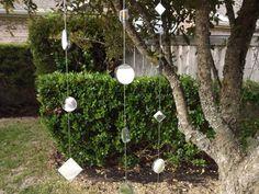 Mirrored Garlands in Outdoor Garden