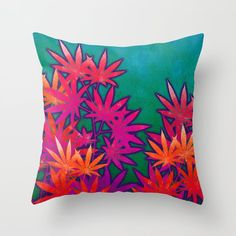 Turquoise Cannabis Field Throw Pillow by the Weed Art Lady different sizes polyester twill fabric -Double-sided print -Includes faux down pillow insert -Individually cut and sewn by hand Couch Pillows, Down Pillows, Weed Art, Designer Throw Pillows, Pillow Design, Pillow Inserts, Cannabis, Hand Sewing, Turquoise