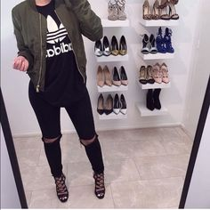 NEW: Kardashian Inspired Green Bomber Jacket Kim Kardashian / Kylie Jenner inspired olive green bomber jacket. Size S. New with tags. Reposhing, was too small on me. Photos from original seller, used with permission (@erensnchz). Jackets & Coats