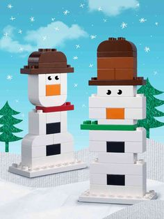 Do you want to make a snowman but you're missing the snow? Try getting all your white bricks out and start building. And the bonus is you don't have to get cold whilst doing it! Maybe even create a mash-up with a real carrot? Or a cute scarf? (Plus you can still have hot chocolate when you're done!)