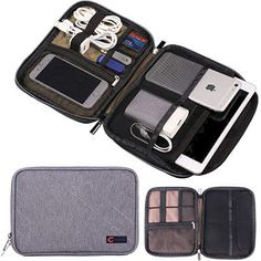 Q-smile Double layer Travel electronic organizer Best Travel Accessories, Tech Accessories, Travel Items, Travel Bags, Cable Organizer, Travel Organization, Purses And Bags, Wbc, Swag Dress