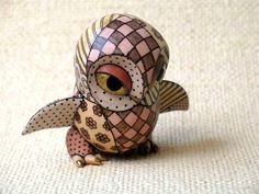 {Ceramic owl art} amazing ceramic critters by artist named Judith (no other info given)