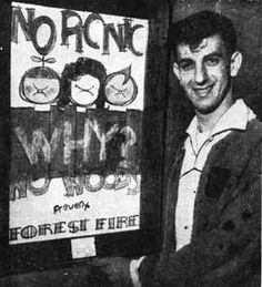 Gail Zappa Young   Frank Zappa with his Forest Fire Prevention Photo as it appeared in ...
