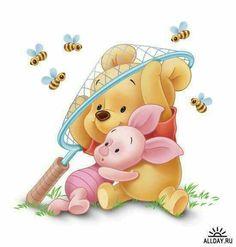 Pooh & Ferkel als Kinder Bienen- in 2020 Winnie The Pooh Drawing, Cute Winnie The Pooh, Winne The Pooh, Winnie The Pooh Quotes, Winnie The Pooh Friends, Disney Drawings, Cartoon Drawings, Cute Drawings, Disney Phone Wallpaper