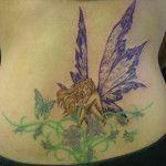 Lower Back Fairy Tattoo Designs