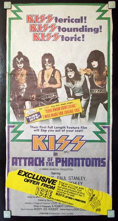 KISS Attack of the Phantoms 1979 Store / Movie ICEE Promotional Daybill Poster Australia by gregg_koenig, via Flickr
