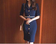 Đầm cổ vest nắp túi kiểu dáng sang trọng - đầm đi dạ hội