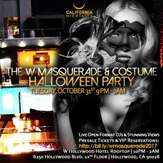 Revel at the W Masquerade Rooftop Halloween -- L.A. s top rooftop costume  party. October 31 ... 3ebd07f7972a